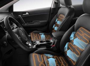 Kia Sportage - vyhřívané a ventilované kožené sedačky