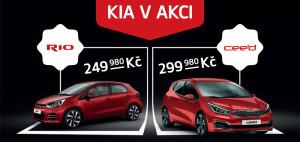 akční ceny Kia Rio a Kia cee'd