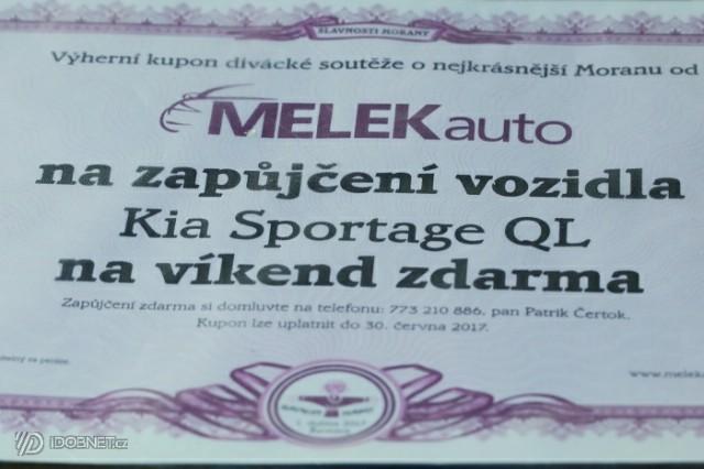 cena pro vítěze - slavnosti Morany Praha Západ Řevnice - autoservis a prodej vozů MELEKauto sponzor