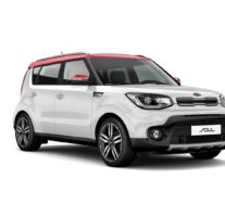Kia Soul – Clear White + Inferno Red