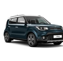 Kia Soul – Mysterious Blue + Clear White