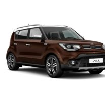 Kia Soul – Russet Brown + Clear White